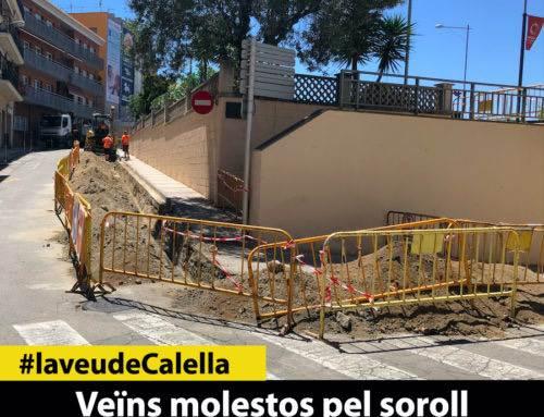 Veïns molestos pel soroll  de les obres en dia festiu