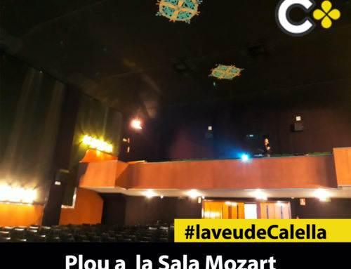 Pluja a l'interior de la Sala Mozart