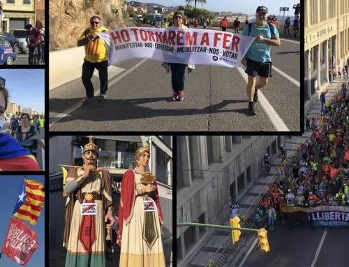Les fotos de la Marxa per la Llibertat a Calella