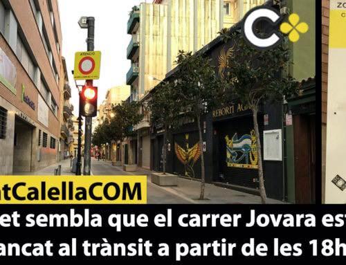 Què et sembla que el carrer Jovara estigui tancat al trànsit a partir de les 18h?