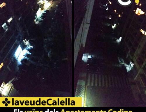 Els veïns dels Apartaments Codina  porten setmanes sense llum al carrer
