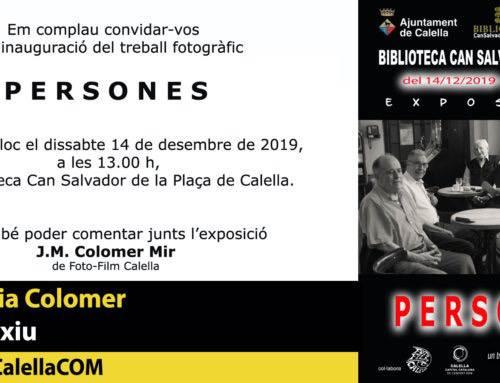 """Josep Maria Colomer et convida a la seva exposició """"Persones"""""""
