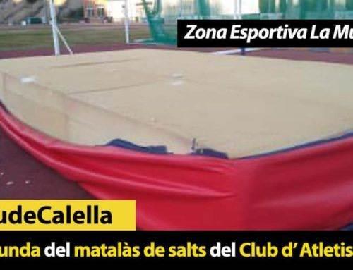 Roben la funda del matalàs de salts del Club d'Atletisme Calella