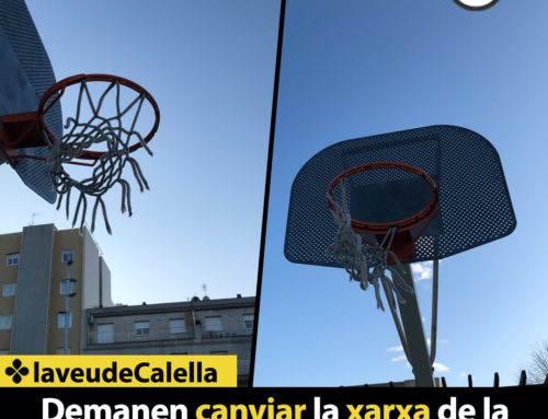 Demanen canviar la xarxa de la cistella de la plaça Lluís Gallart