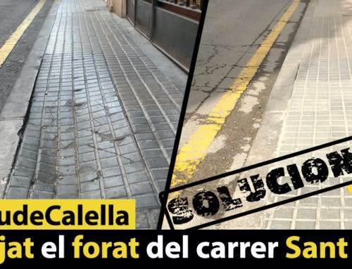 Arranjat el forat del carrer Sant Josep