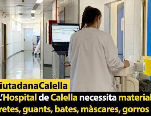 L'Hospital de Calella necessita material: mascaretes, guants, bates, màscares, gorros i peücs