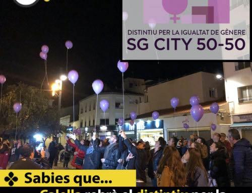 Calella rebrà el distintiu per la igualtat de gènere SG CITY 50-50