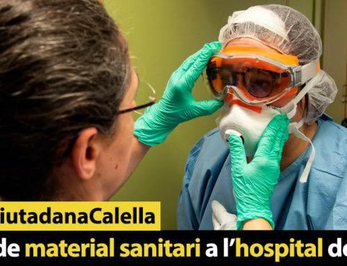 Manca de material sanitari a l'hospital de Calella
