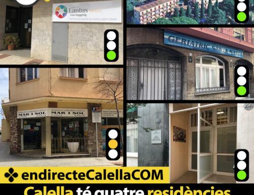 Calella té quatre residències verdes i una taronja