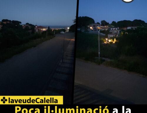 Poca il·luminació a la urbanització Sant Quirze