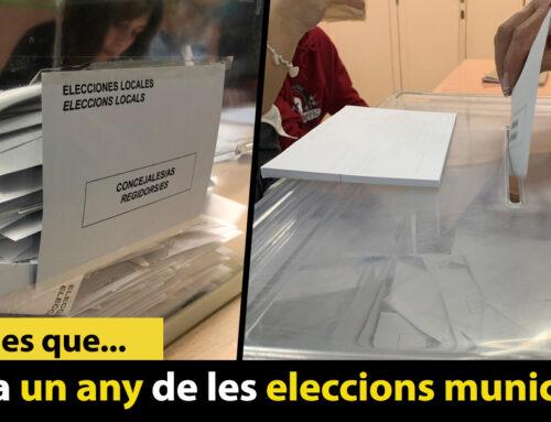 Es compleix un any de les eleccions municipals