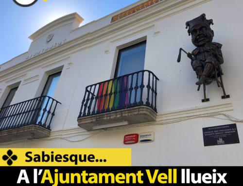 Sabies que a l'Ajuntament Vell llueix la bandera LGTBI?