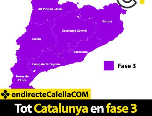 Tot Catalunya en fase 3 a partir de demà