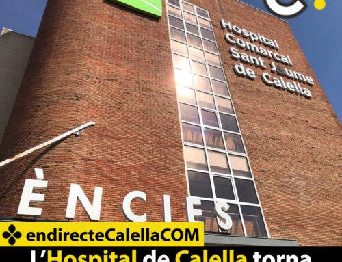 L'Hospital de Calella torna a estar lliure de COVID-19