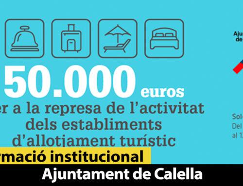 L'Ajuntament posa a disposició dels allotjaments turístics un paquet de 50.000 euros en ajuts a l'activitat