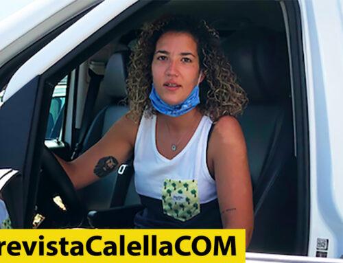 Montse Correa, la primera dona taxista de Calella