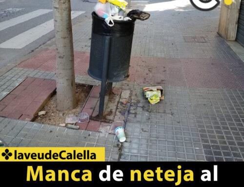 Manca de neteja al  carrer Àngel Guimerà