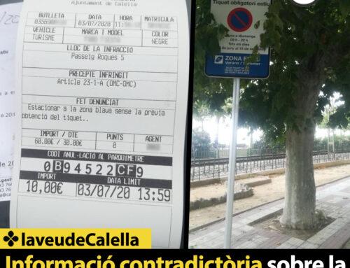 Informació contradictòria sobre la zona blava al Passeig de les Roques