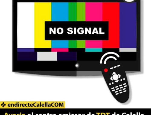 Avaria al centre emissor de TDT de Calella i Pineda
