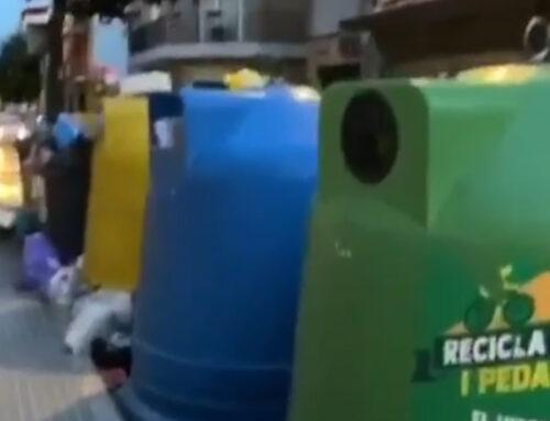 Mala olor a la zona dels contenidors del carrer Bruguera amb Indústria