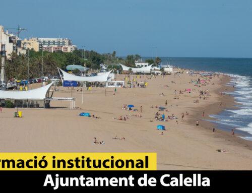 Les platges de Calella són les primeres de Catalunya que reben el segell Safe Tourism Certified