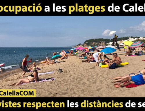 Poca ocupació a les platges de Calella