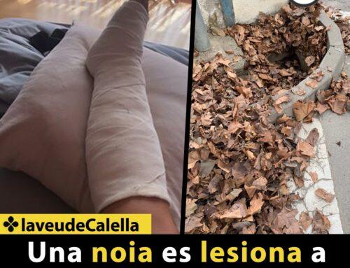 Una noia es lesiona a causa d'un sot al passeig