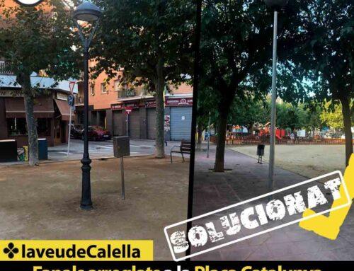 Fanals arreglats a la Plaça Catalunya i a la Plaça Jaume Marxuach