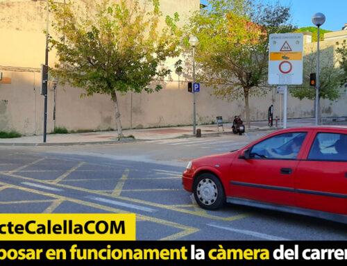 Es torna a posar en funcionament la càmera del carrer Sant Joan