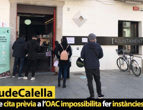 La manca de cita prèvia a l'OAC impossibilita fer instàncies presencials
