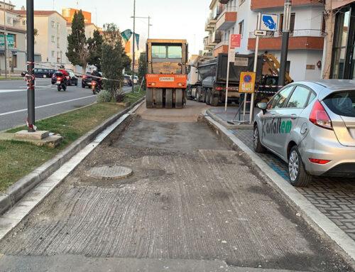 L'Ajuntament arranja el lateral de la N-II entre Capaspre i Sant Isidre