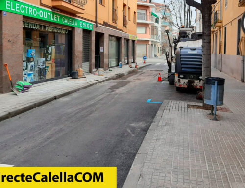 Tornen a asfaltar una part del carrer Bruguera per un forat