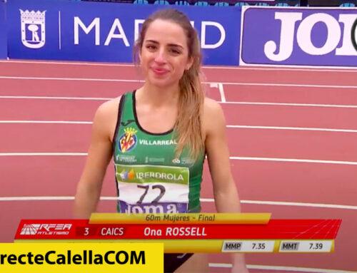 L'atleta Ona Rossell queda quarta al Campionat d'Espanya Absolut de Pista Coberta