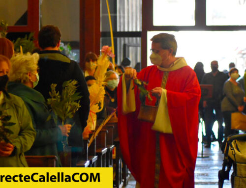 Calella celebra Diumenge de Rams beneïnt palmes i llorer