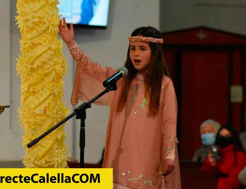 La petita Aina Esqueu interpreta el tradicional Cant de l'Àngel