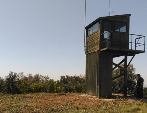 Nou acte de vandalisme contra la torre de guaita l'ADF