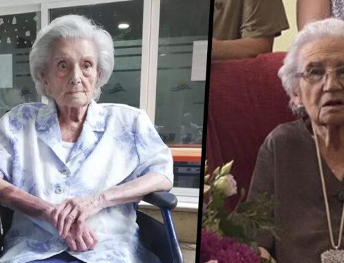 Dues calellenques reben les medalles per complir 100 anys