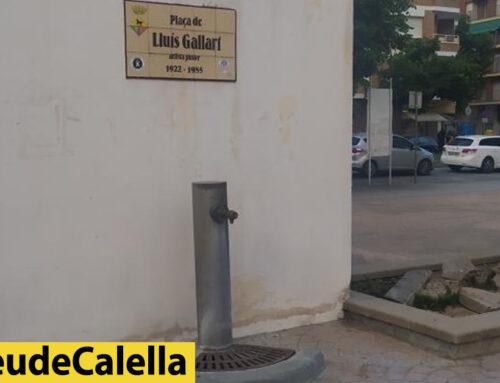 Sense aigua a la font de la plaça Lluís Gallart